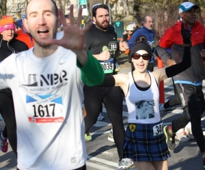 Me and Steve near mile 1Photo by Erica Sara
