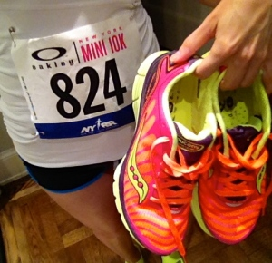 Race day with my Saucony Kinvaras