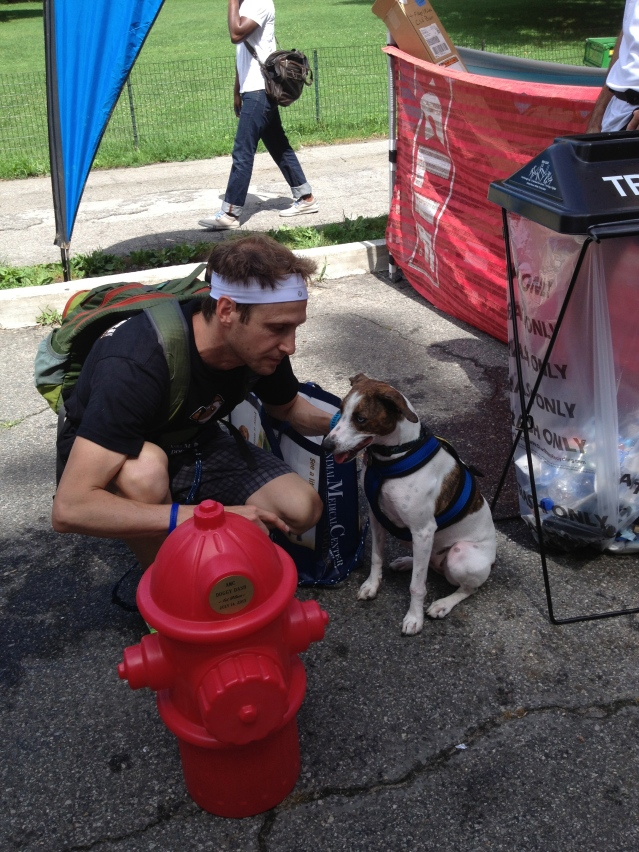 Terence and Tes, winner of the NYC Tri Doggy Dash.